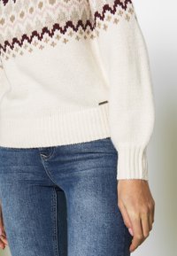Abercrombie & Fitch - CABLE MOCKNECK - Jumper - cream pattern - 5