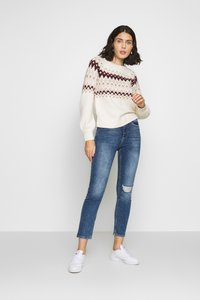 Abercrombie & Fitch - CABLE MOCKNECK - Jumper - cream pattern - 1