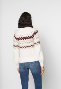 Abercrombie & Fitch - CABLE MOCKNECK - Jumper - cream pattern - 2