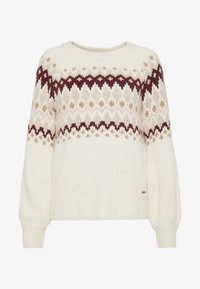 Abercrombie & Fitch - CABLE MOCKNECK - Jumper - cream pattern - 4