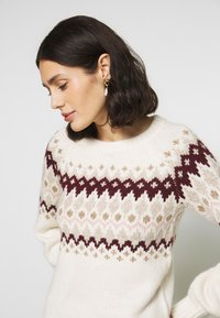 Abercrombie & Fitch - CABLE MOCKNECK - Jumper - cream pattern - 3