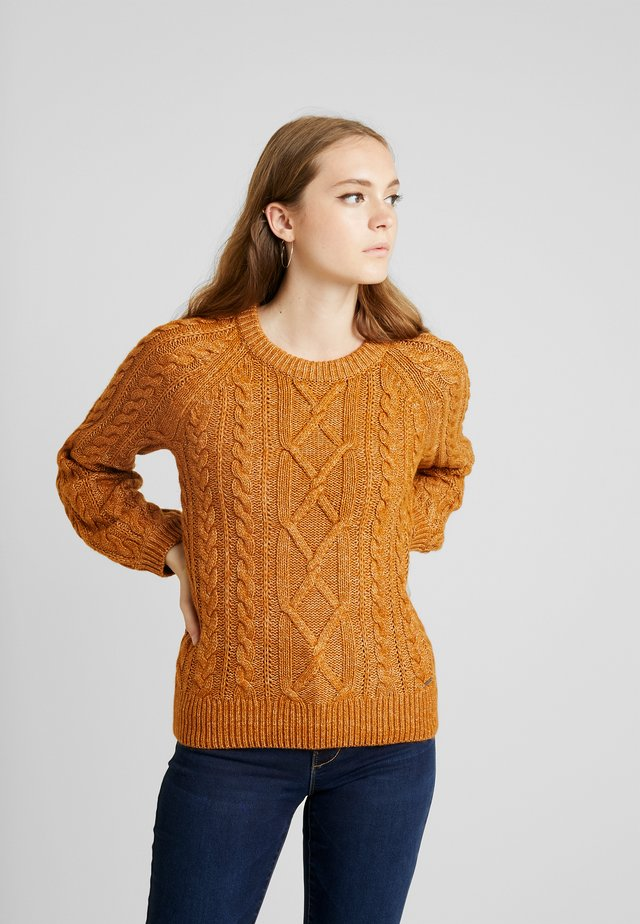 CABLE MOCKNECK - Jersey de punto - brown