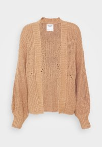 Abercrombie & Fitch - PUFF SLEEVE CARDI - Cardigan - brown - 4
