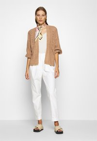 Abercrombie & Fitch - PUFF SLEEVE CARDI - Cardigan - brown - 1
