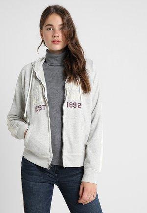LOGO FULL ZIP - Zip-up hoodie - light heather grey