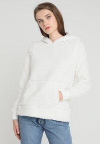 Abercrombie & Fitch - SHERPA - Hoodie - white - 0