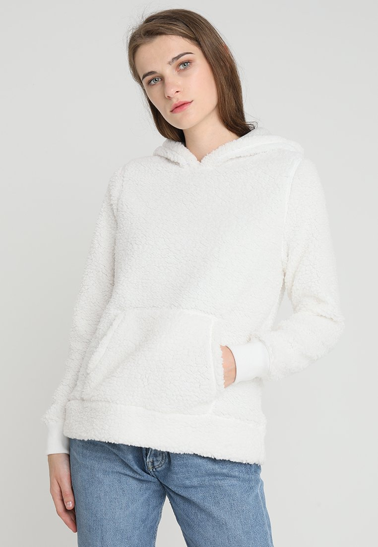 Abercrombie & Fitch - SHERPA - Hoodie - white