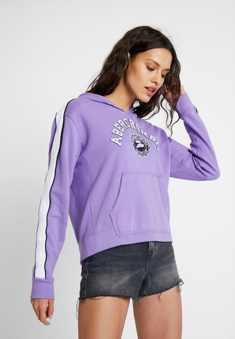 Abercrombie & Fitch - LOGO SWEATSHIRT - Kapuzenpullover - purple