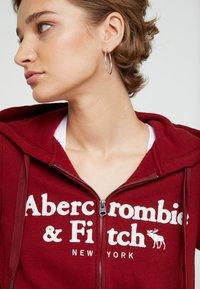 Abercrombie & Fitch - LOGO FULL ZIP - Felpa aperta - burg - 3