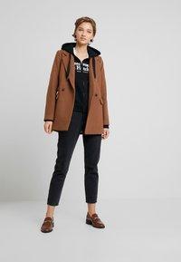 Abercrombie & Fitch - LOGO FULL ZIP - Zip-up hoodie - black - 1