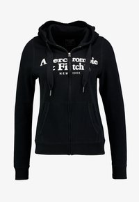 Abercrombie & Fitch - LOGO FULL ZIP - Zip-up hoodie - black - 4