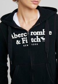 Abercrombie & Fitch - LOGO FULL ZIP - Zip-up hoodie - black - 5