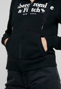 Abercrombie & Fitch - LOGO FULL ZIP - Zip-up hoodie - black - 3