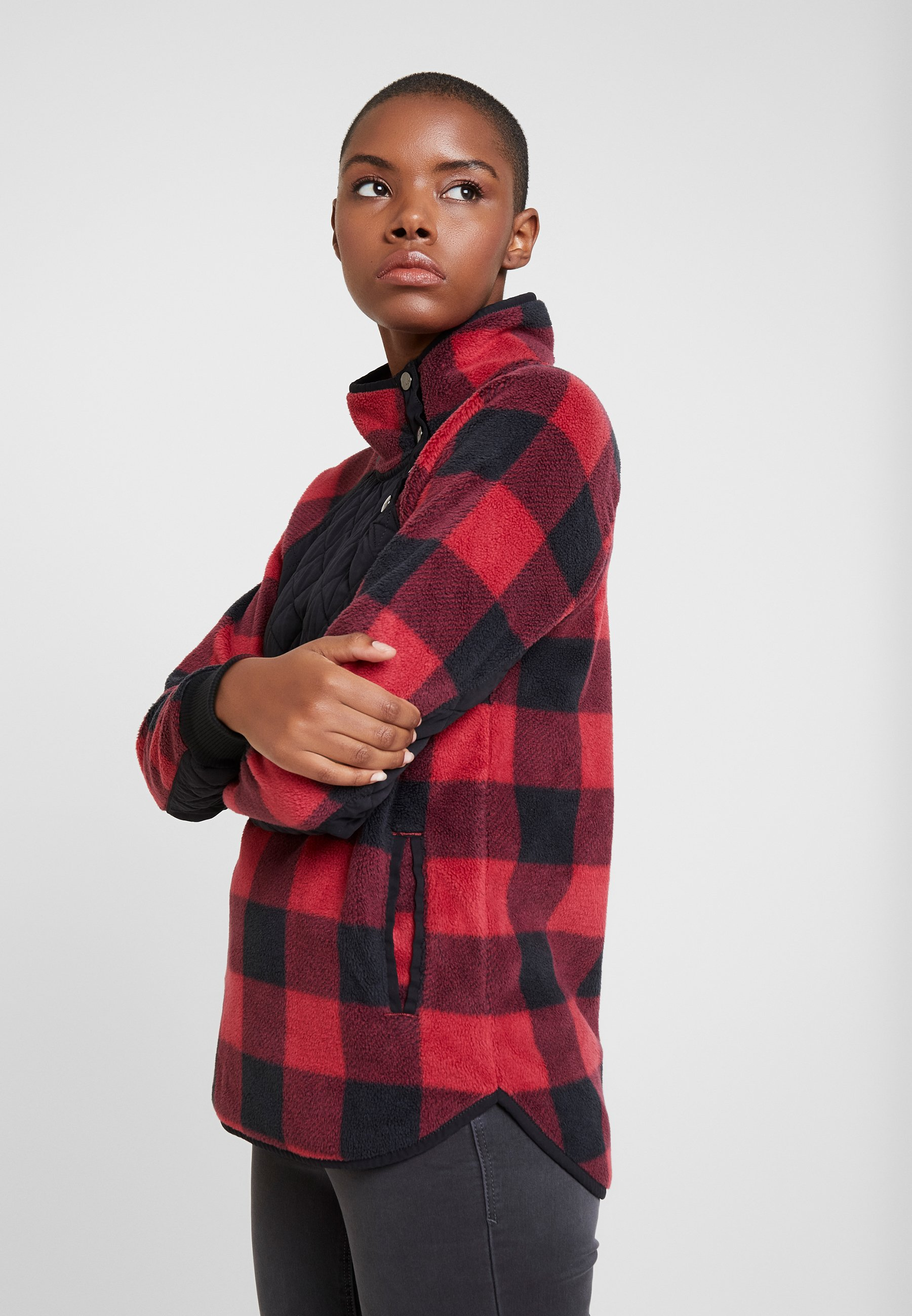 Abercrombieamp; Fitch Pattern Red SnapSweatshirt Asymetrical rxBCWedo
