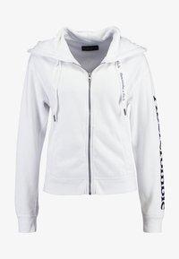 Abercrombie & Fitch - FULL ZIP LOGO - Zip-up hoodie - white - 3