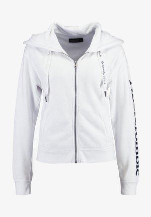 FULL ZIP LOGO - Zip-up hoodie - white