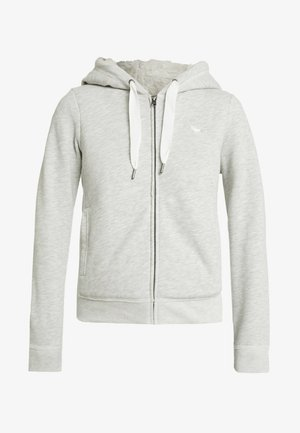 LINED LOGO FULL ZIP - Mikina na zip - grey