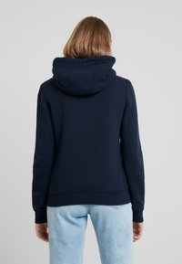 Abercrombie & Fitch - SHERPA LINED LOGO FULL ZIP - Zip-up hoodie - navy - 2