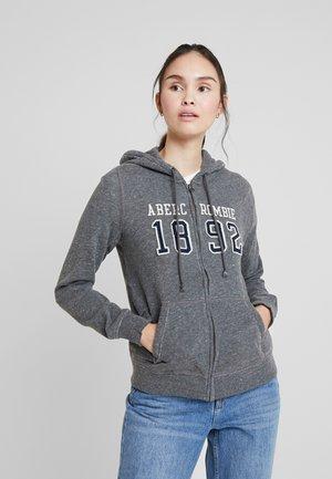 TECH LOGO - Zip-up hoodie - dark grey
