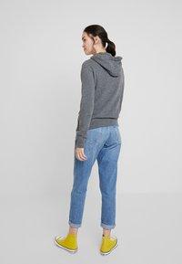 Abercrombie & Fitch - TECH LOGO - Zip-up hoodie - dark grey - 2