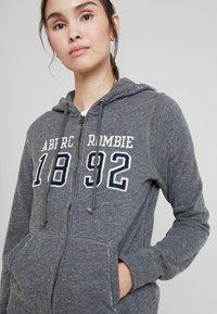 Abercrombie & Fitch - TECH LOGO - Zip-up hoodie - dark grey - 5