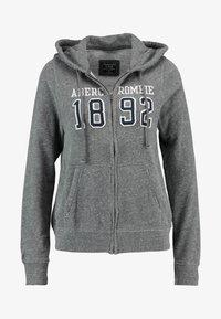 Abercrombie & Fitch - TECH LOGO - Zip-up hoodie - dark grey - 4
