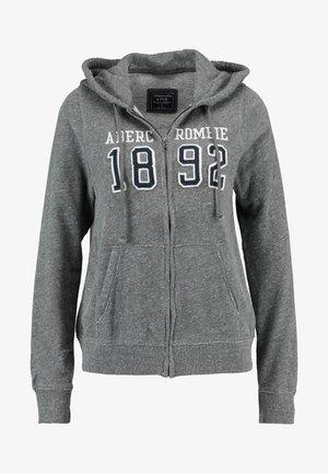TECH LOGO - veste en sweat zippée - dark grey