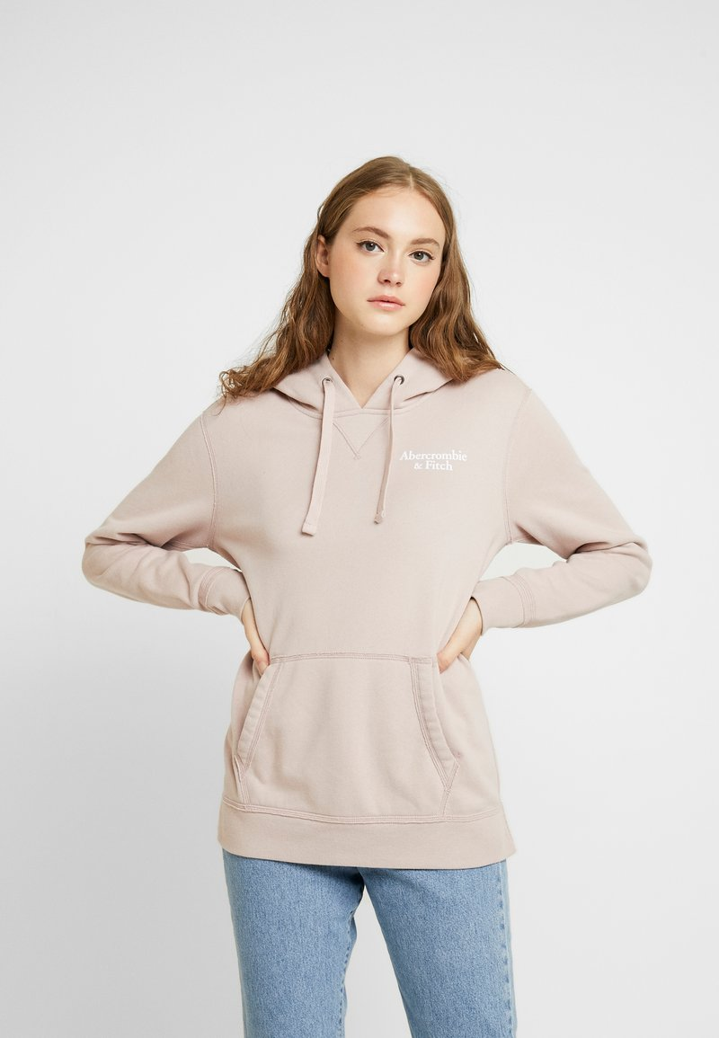 Abercrombie & Fitch - TREND LOGO POPOVER - Hoodie - light pink