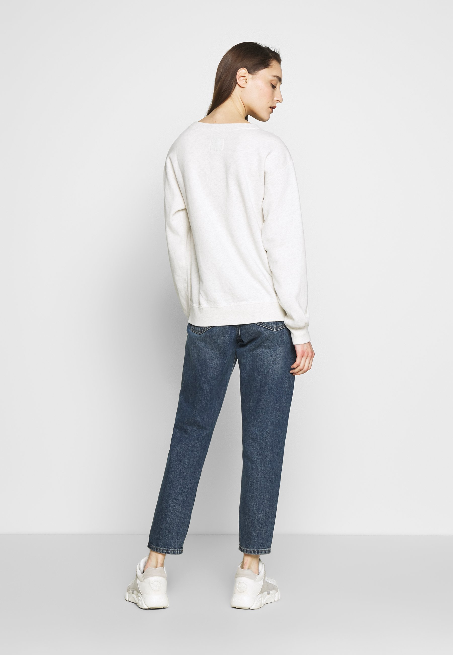 Abercrombie & Fitch HERITAGE RELAXED CREW - Sweatshirt - grey heather