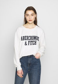 Abercrombie & Fitch - HERITAGE RELAXED CREW - Sweatshirt - grey heather - 0