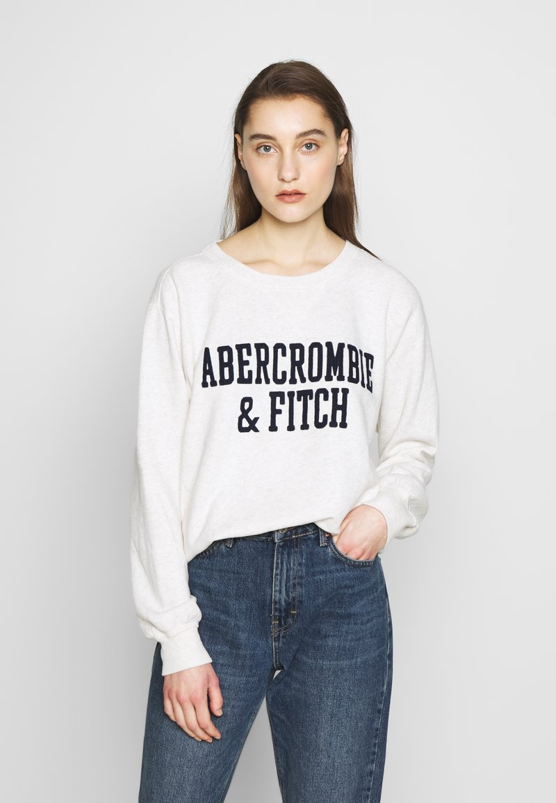 Abercrombie & Fitch - HERITAGE RELAXED CREW - Sweatshirt - grey heather