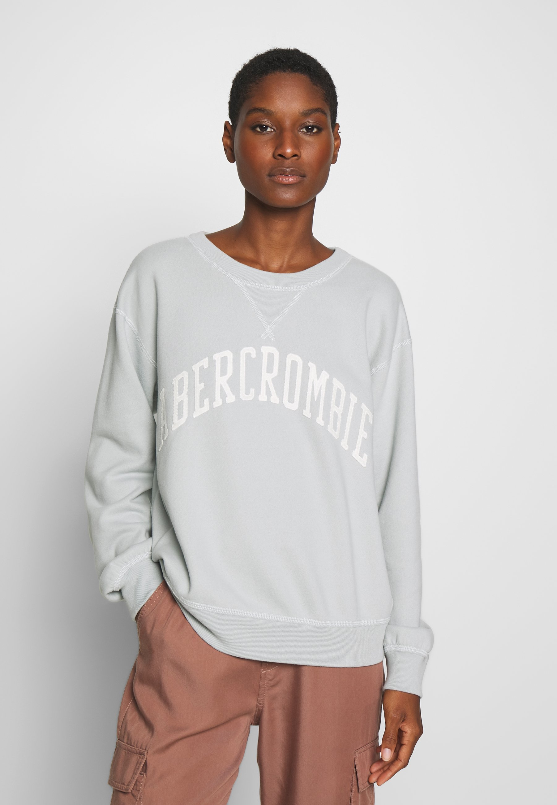 Abercrombie & Fitch HERITAGE RELAXED CREW - Bluza - green