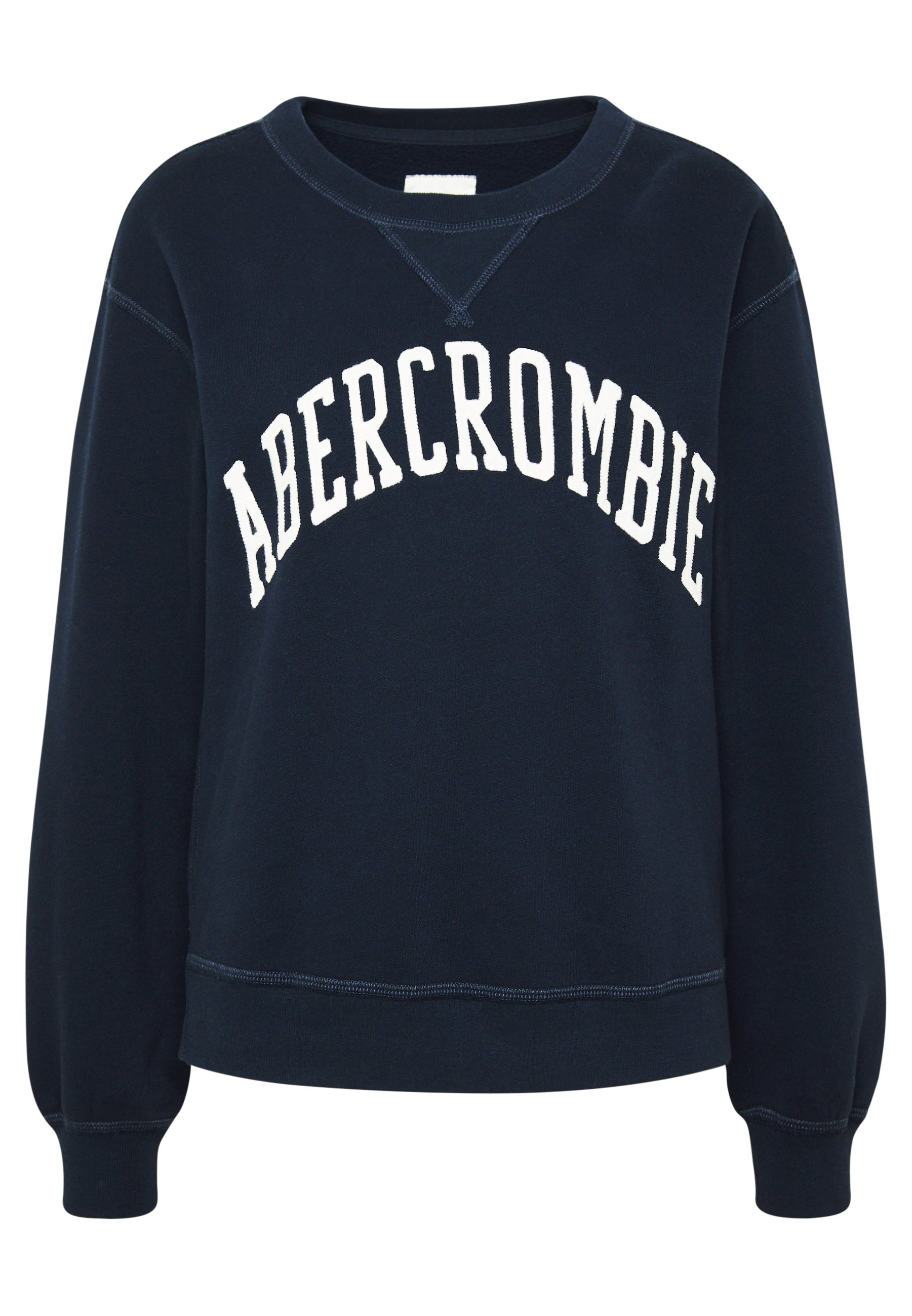 Abercrombie & Fitch Heritage Relaxed Crew - Sweatshirts Navy