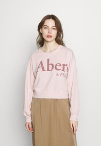 Abercrombie & Fitch - TREND LOGO SHARKBITE CREW - Sweatshirt - pink - 0