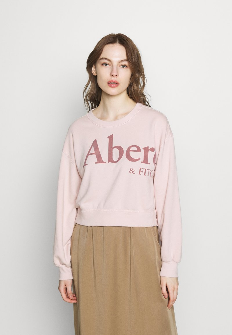 Abercrombie & Fitch - TREND LOGO SHARKBITE CREW - Sweatshirt - pink