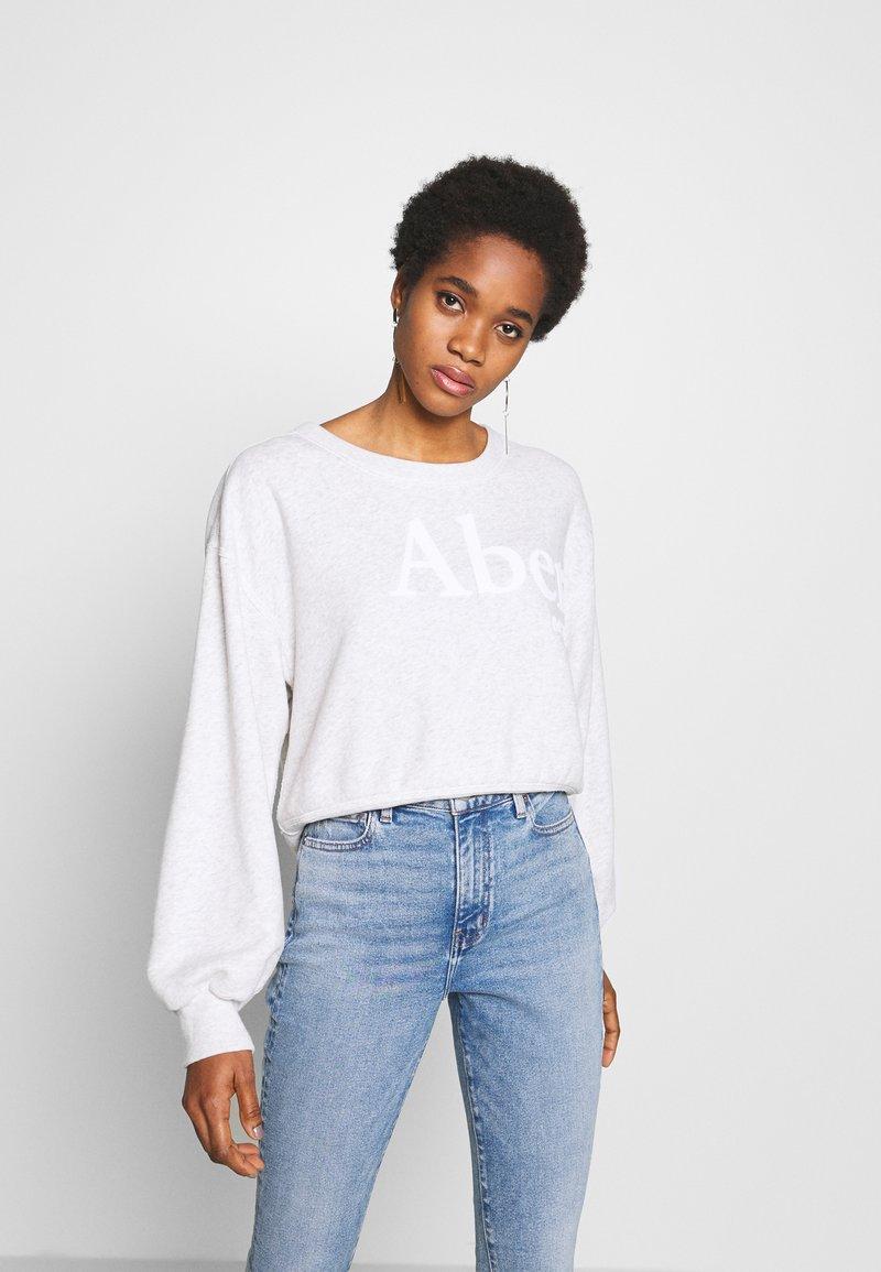 Abercrombie & Fitch - TREND LOGO SHARKBITE CREW - Sweatshirt - grey