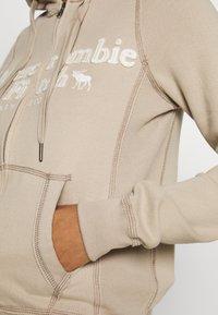 Abercrombie & Fitch - LONG LIFE FULL ZIP - Zip-up hoodie - cobblestone - 5