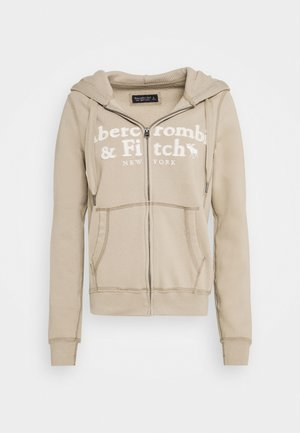 LONG LIFE FULL ZIP - Zip-up hoodie - cobblestone