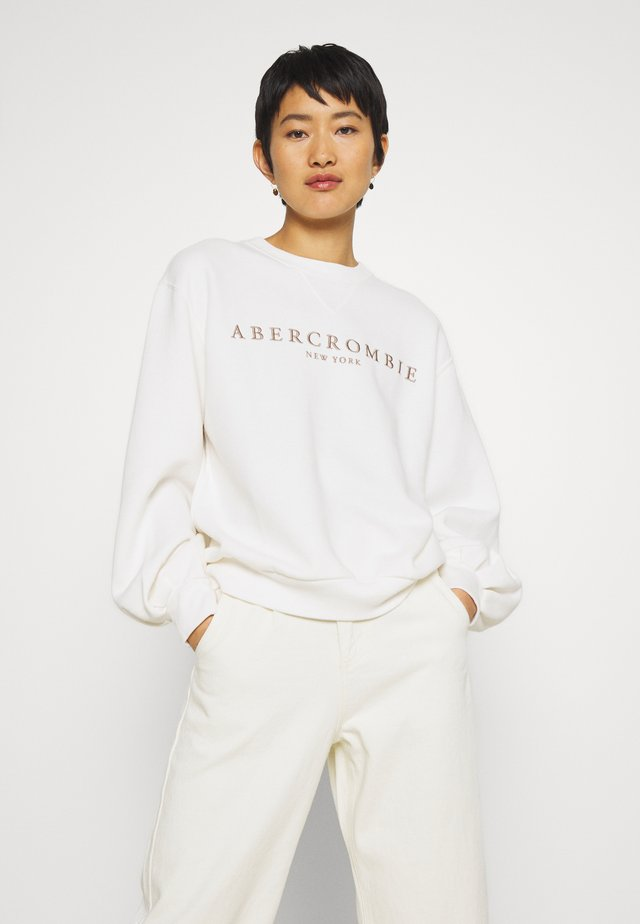 LOGO PUFF SLEEVE CREW - Sweatshirt - white