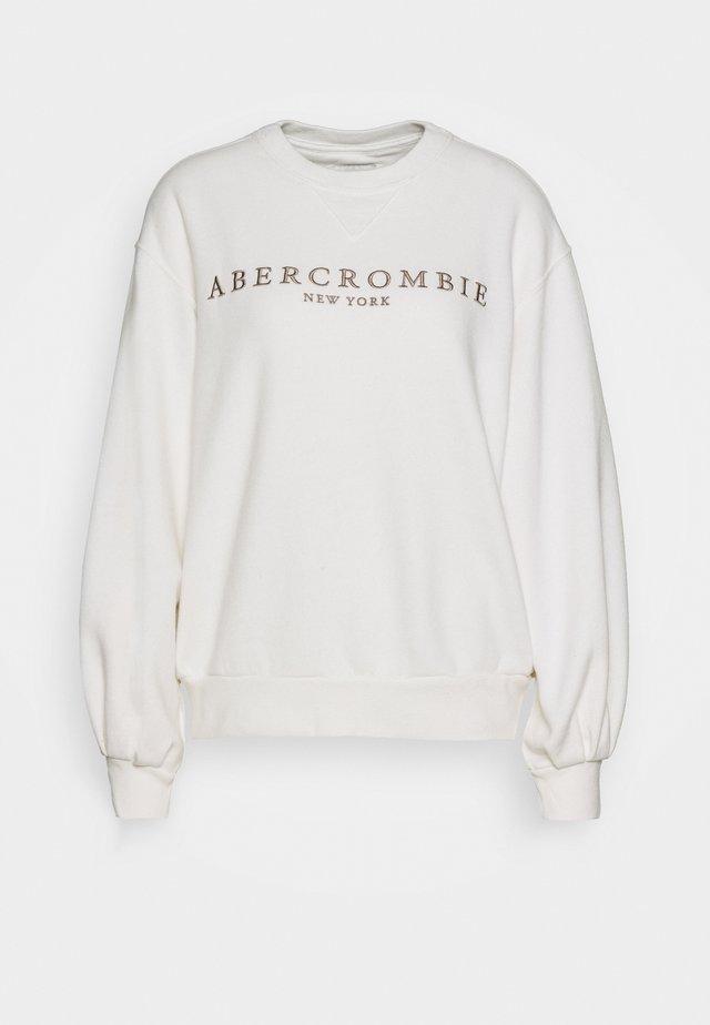 LOGO PUFF SLEEVE CREW - Sweatshirt - white