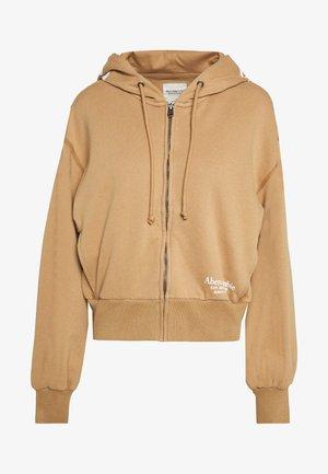 TREND LOGO - veste en sweat zippée - brown