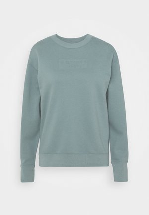 EMBOSSED LOGO PUFF SLEEVE CREW - Sweatshirt - blue