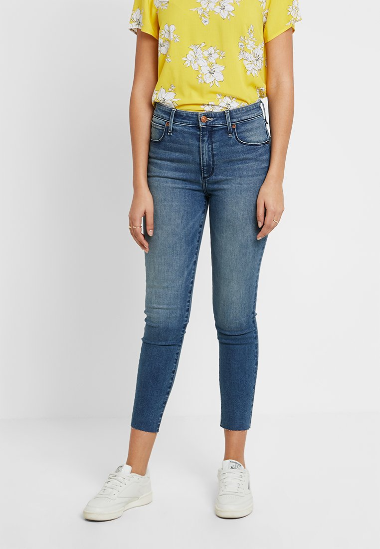 Abercrombie & Fitch - HIGH RISE  - Jeans Skinny Fit - blue denim