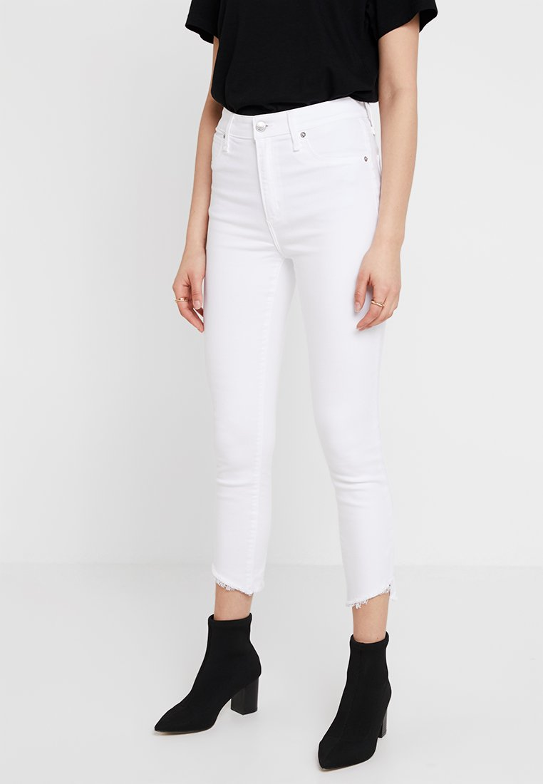 Abercrombie & Fitch - HIGH RISE ANKLE  - Jeans Skinny Fit - white
