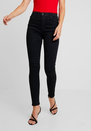 HIGH RISE SUPER - Skinny džíny - black