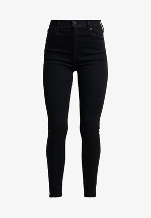 HIGH RISE SUPER - Jeans Skinny Fit - black