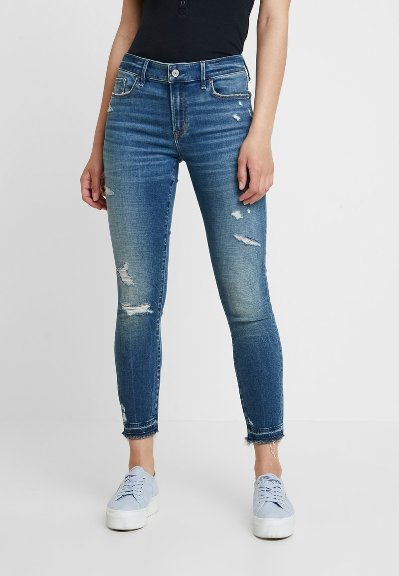 Abercrombie & Fitch - MID RISE  - Jeans Skinny Fit - stone blue denim