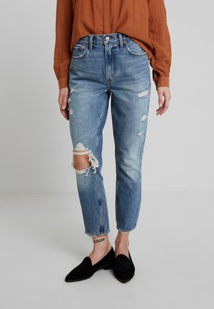 KNEE BLOWOUT MOM - Jeans Relaxed Fit - destroyed denim