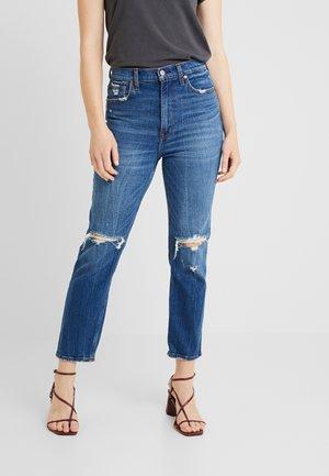 ULTRA HIGH RISE ANKLE STRAIGHT - Straight leg jeans - medium/dark