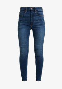 Abercrombie & Fitch - ULTRA HIGH RISE - Skinny džíny - blue denim - 4